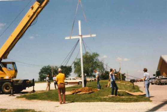Large Cross Erected 1985